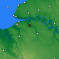Nearby Forecast Locations - Pont-Audemer - Map