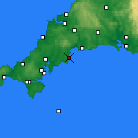 Nearby Forecast Locations - Mevagissey - Map