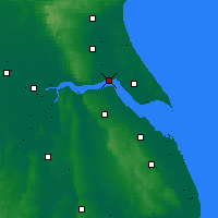 Nearby Forecast Locations - Kingston upon Hull - Map