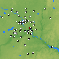 Nearby Forecast Locations - Saint Paul - Map