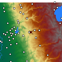 Nearby Forecast Locations - Placerville - Map