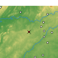 Nearby Forecast Locations - Paulding - Map