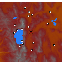 Nearby Forecast Locations - Carson City - Map