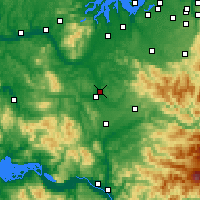 Nearby Forecast Locations - Chehalis - Map