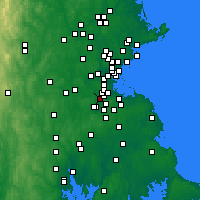 Nearby Forecast Locations - Dedham - Map