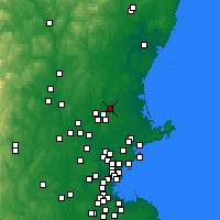 Nearby Forecast Locations - Haverhill - Map