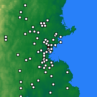 Nearby Forecast Locations - Malden - Map