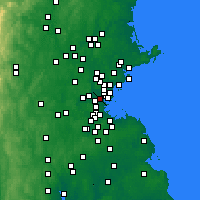 Nearby Forecast Locations - Somerville - Map