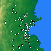 Nearby Forecast Locations - Woburn - Map