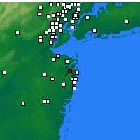 Nearby Forecast Locations - Eatontown - Map