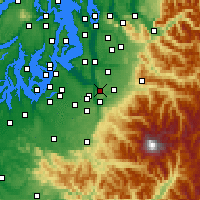 Nearby Forecast Locations - Sumner - Map