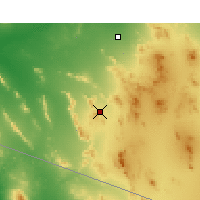 Nearby Forecast Locations - Ajo - Map
