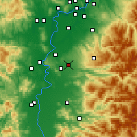 Nearby Forecast Locations - Aumsville - Map