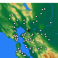 Nearby Forecast Locations - Benicia - Map