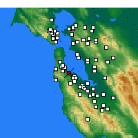 Nearby Forecast Locations - Burlingame - Map