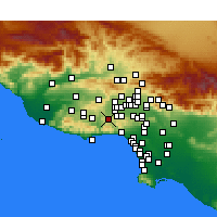 Nearby Forecast Locations - Calabasas - Map