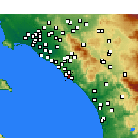 Nearby Forecast Locations - Capistrano Beach - Map