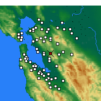 Nearby Forecast Locations - Castro Valley - Map