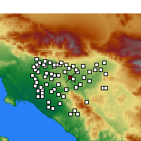 Nearby Forecast Locations - Chino Hills - Map
