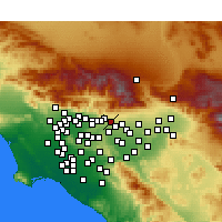 Nearby Forecast Locations - Claremont - Map