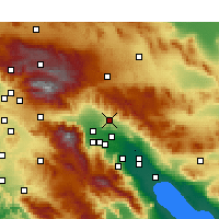 Nearby Forecast Locations - Desert Hot Springs - Map