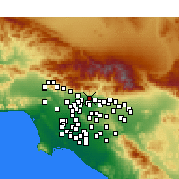 Nearby Forecast Locations - Duarte - Map