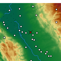 Nearby Forecast Locations - Escalon - Map