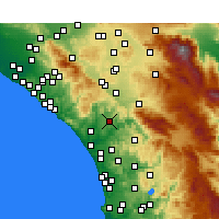 Nearby Forecast Locations - Fallbrook - Map