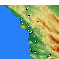 Nearby Forecast Locations - Grover Beach - Map