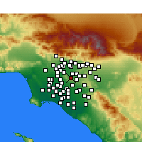 Nearby Forecast Locations - Hacienda Heights - Map