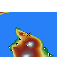 Nearby Forecast Locations - Honokaa - Map