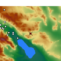 Nearby Forecast Locations - Indio - Map