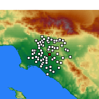 Nearby Forecast Locations - La Habra - Map