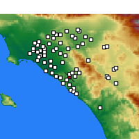 Nearby Forecast Locations - Laguna Hills - Map