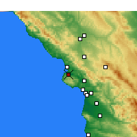 Nearby Forecast Locations - Los Osos - Map
