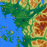 Nearby Forecast Locations - Lynden - Map
