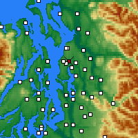 Nearby Forecast Locations - Lynnwood - Map