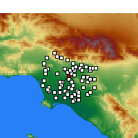 Nearby Forecast Locations - Monterey Park - Map