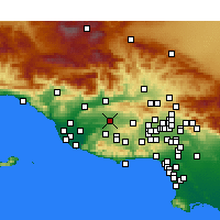Nearby Forecast Locations - Moorpark - Map