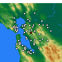 Nearby Forecast Locations - Moraga - Map