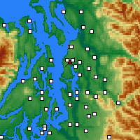 Nearby Forecast Locations - Mountlake Terrace - Map