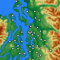 Nearby Forecast Locations - Mukilteo - Map