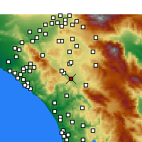 Nearby Forecast Locations - Murrieta - Map