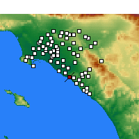 Nearby Forecast Locations - Newport Beach - Map