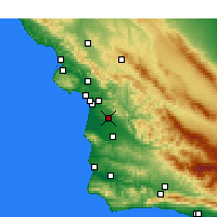 Nearby Forecast Locations - Nipomo - Map