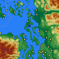 Nearby Forecast Locations - Oak Harbor - Map