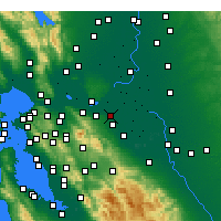 Nearby Forecast Locations - Oakley - Map