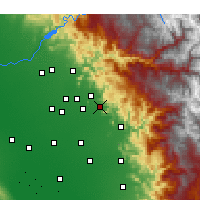 Nearby Forecast Locations - Orosi - Map