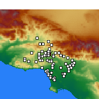 Nearby Forecast Locations - Pacoima - Map