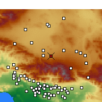 Nearby Forecast Locations - Lake Los Angeles - Map
